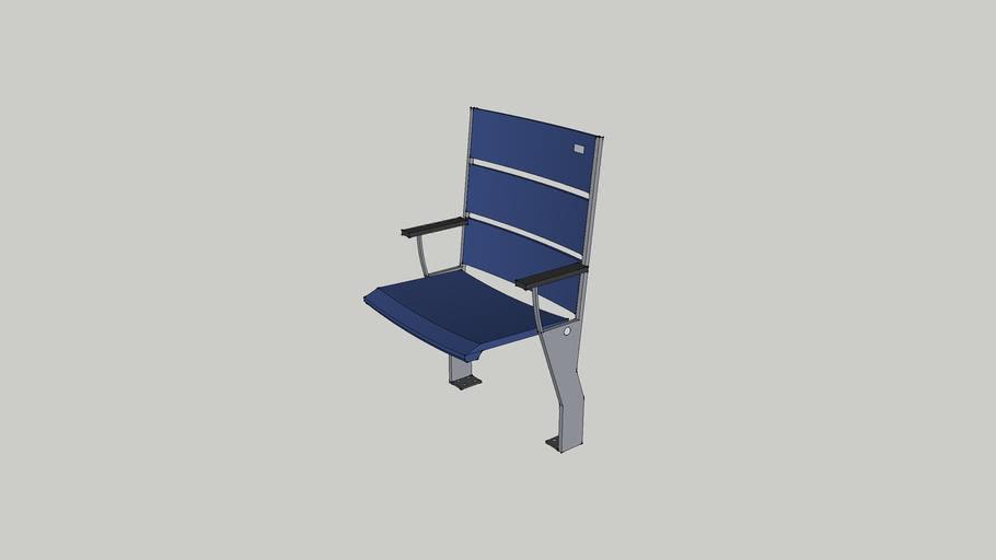 Stadium Seat Tread Mount Blue