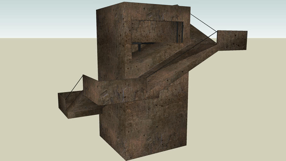 castle stairs 3D