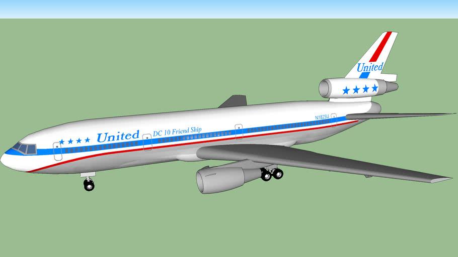 "United Airlines DC-10-10 ""Stars & Bars"" (1977)"