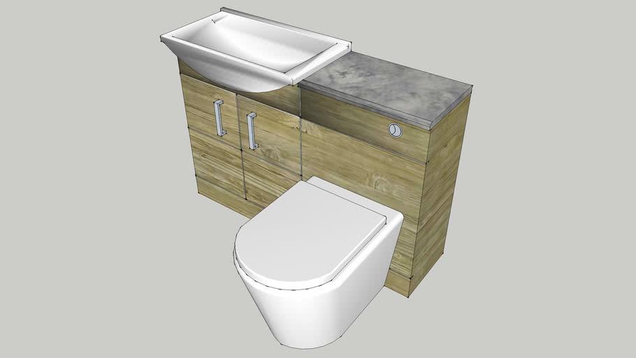 Full Bathroom Vanity Toilet Unit