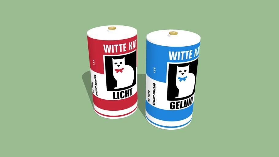 Witte Kat Baterijen D-cel