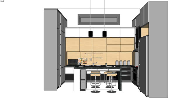 Kitchen Set 3d Warehouse