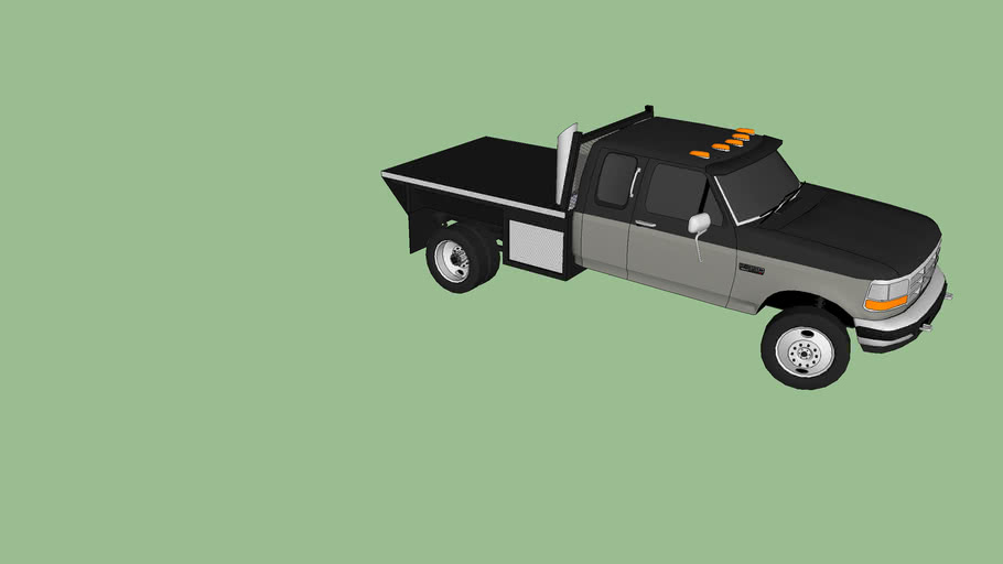 ford powerstroke with flatbed moded by RISNERPOWER