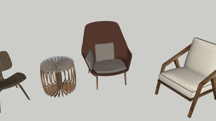 Lounge Chairs and Coffee Table