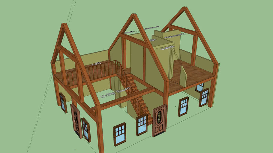 Small Timber Frame Home / Second Floor