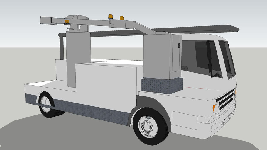 low poly 1 passenger charry picker