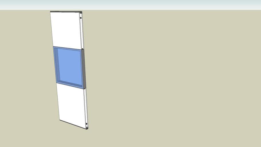 Modulo parete divisoria parzialmente vetrato