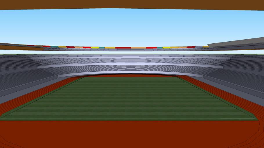 stadion sepakbola atletik beratap penuh
