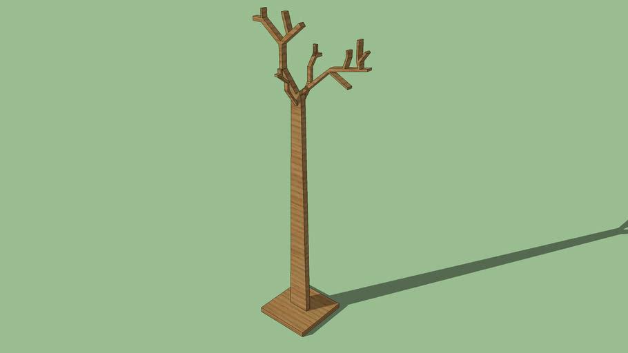 mancebo arvore, tree coat hanger