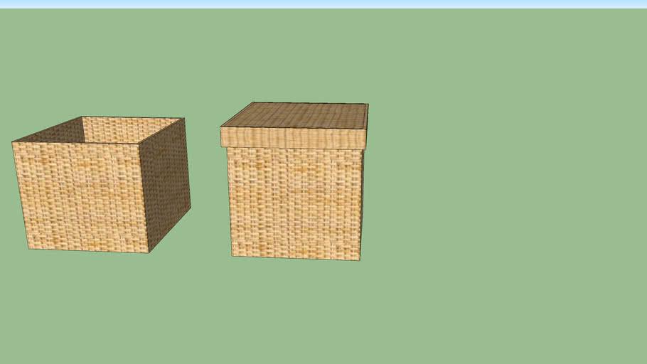 cajas mimbre