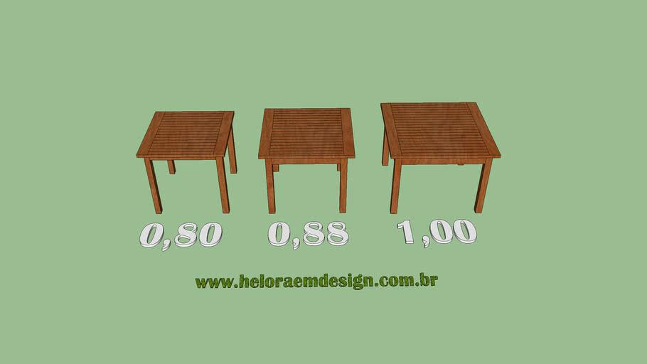 Mesas Quadradas fixas export recanto , 80, 88 e 1,00 - Casa e Jardim - Heloraemdesign.com.br