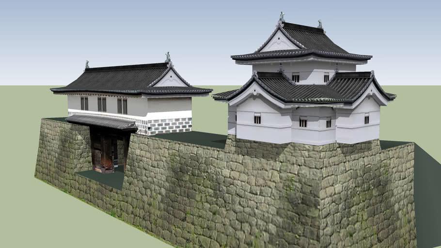新発田城 辰巳櫓と表門(重要文化財)