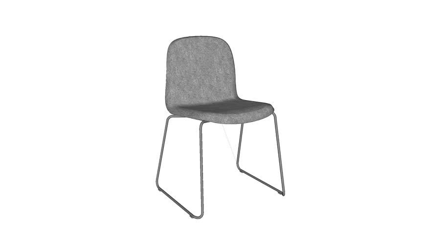 Visu chair - sled base, upholstred - by Muuto, designed by Mika Tolvanen