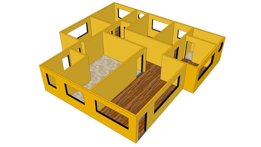 Casa Amarela 3D