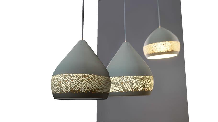 Ceramic lights by Miguel Angel Garcia