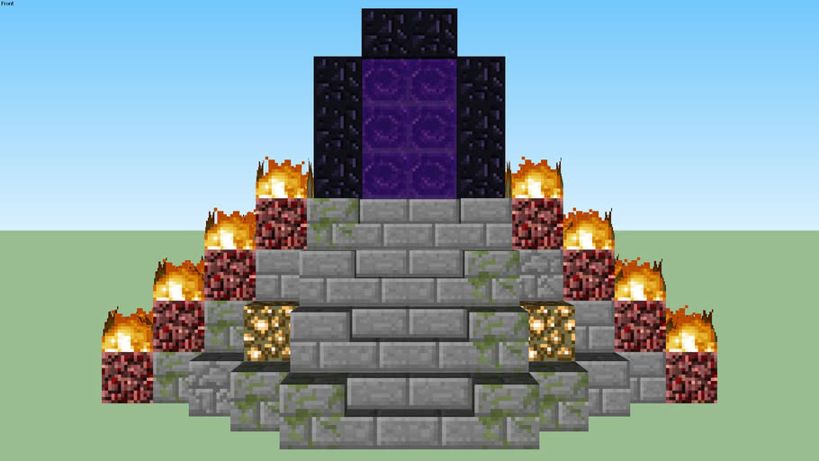 Portal Tower to the Nether by Zapperier
