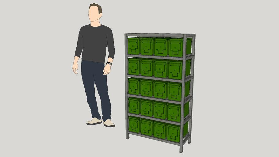 Ammo Can Storage Rack