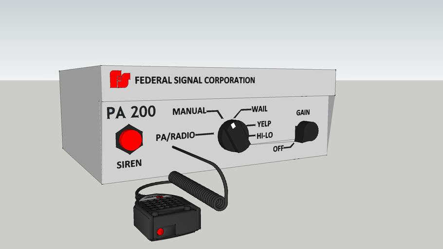 Federal signal PA 200 siren