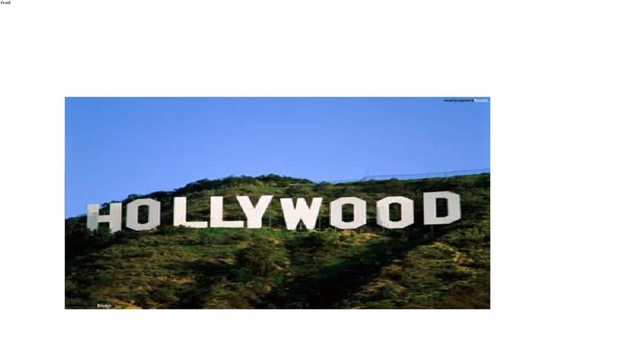 Achtergronddoek Hollywood Hills