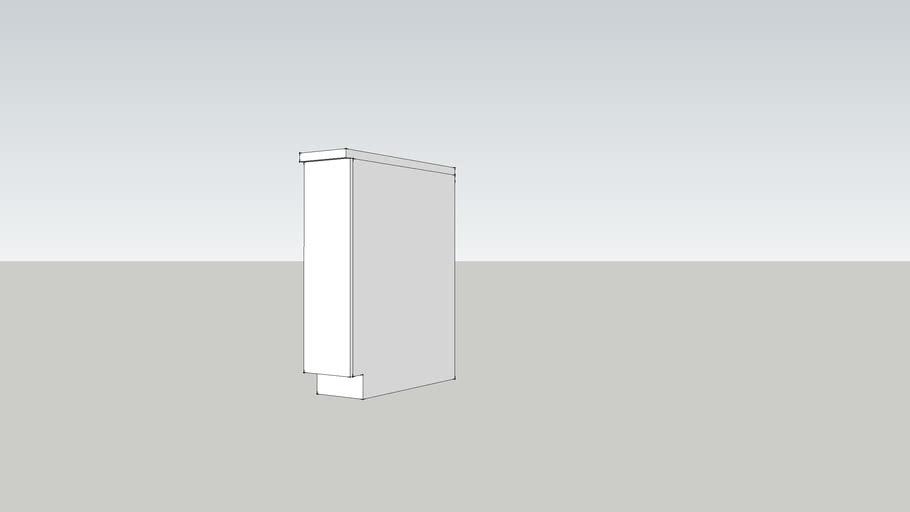 GZ 70 base-w20 shelf-white