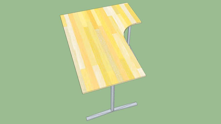 Angle desk 1 wood