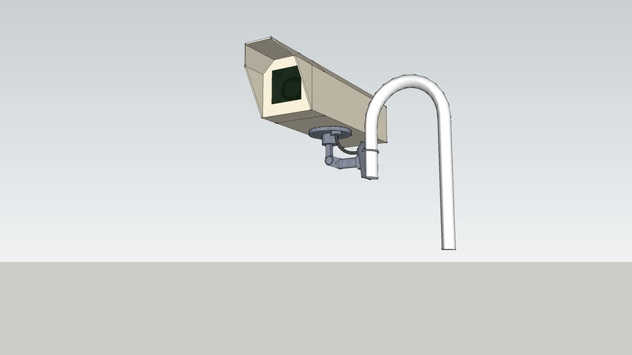 CCTV camera curved mount