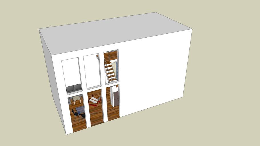 Minimalistic House 10 x 5m
