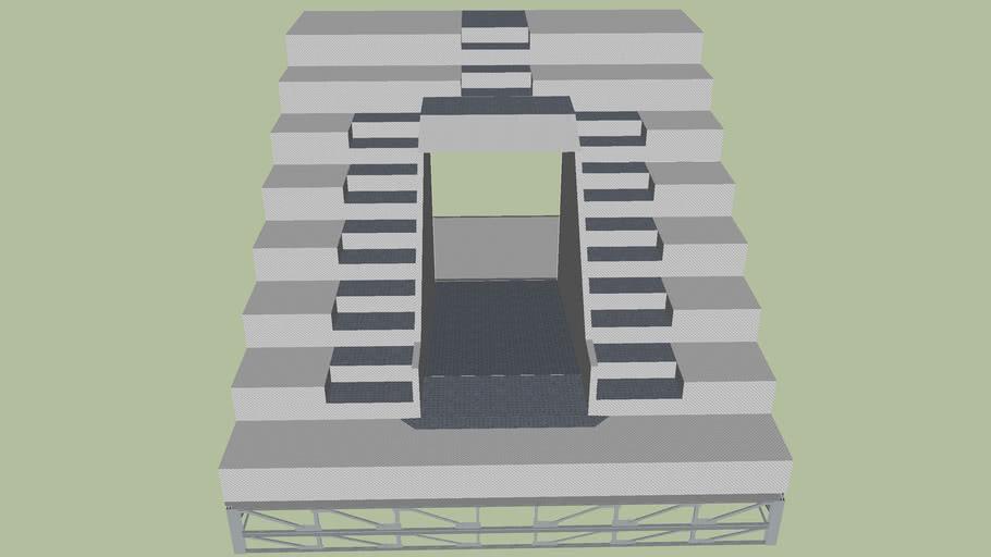 stadium entrance stairs steel module
