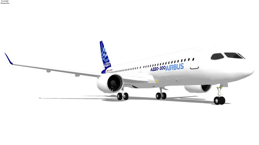 Airbus A220-300 (Bombardier CS300) (House Airbus Livery) (2018) C-FFDO