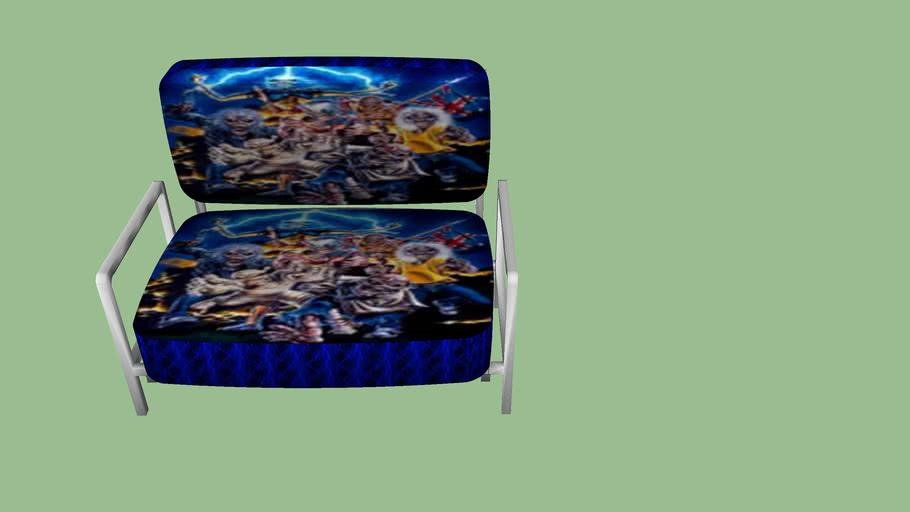 Iron Maiden Metal Frame Love Seat