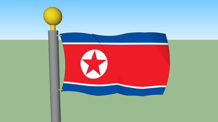 North Korean Flag on Flagpole (KIM JONG IL IS DEAD!!!)
