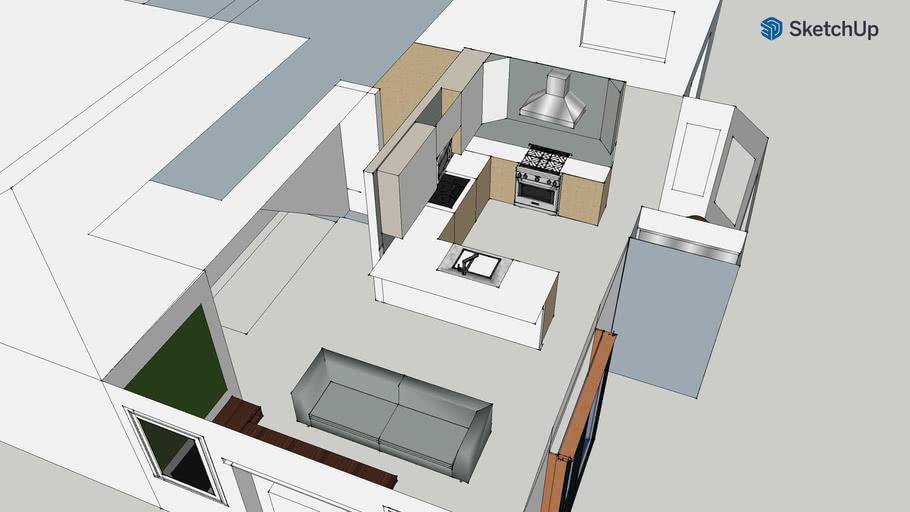 DIY Lake Arrowhead kitchen