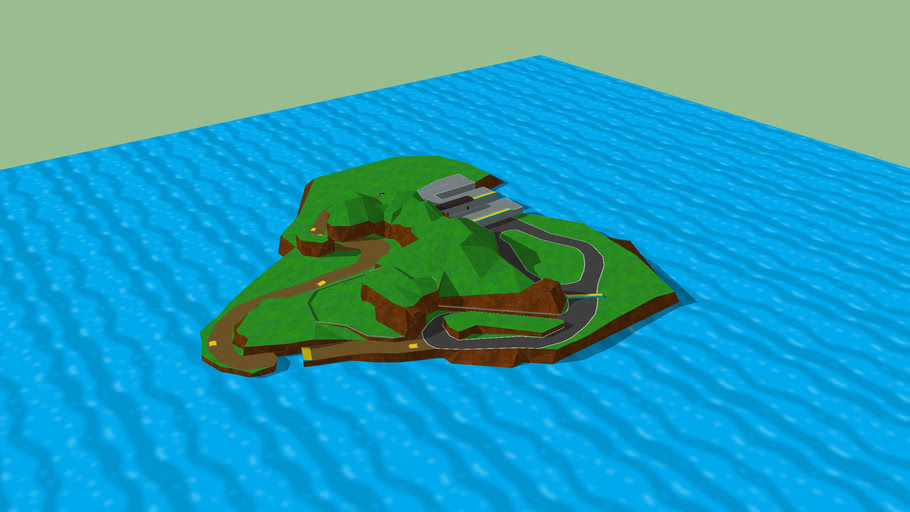 "WIP Mario Kart Wii level - Beta 01 ""Rooster Island"""