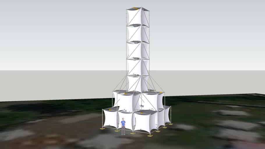 14.5m light cubes tower