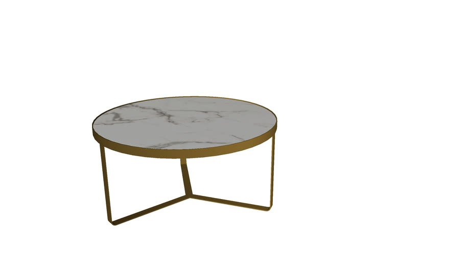 84731 Side Table Marble Gold 70cm