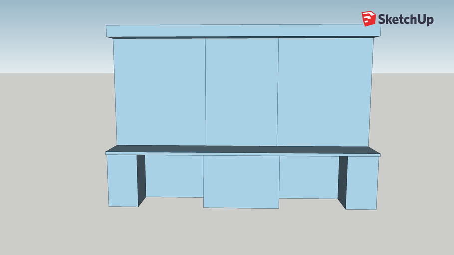 Counter and Bookcases
