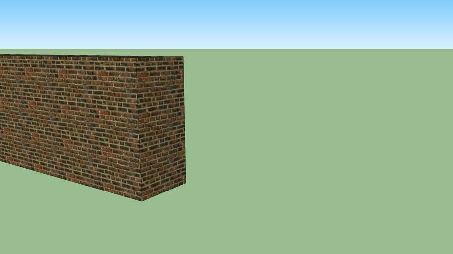 Straight wall 2m 1