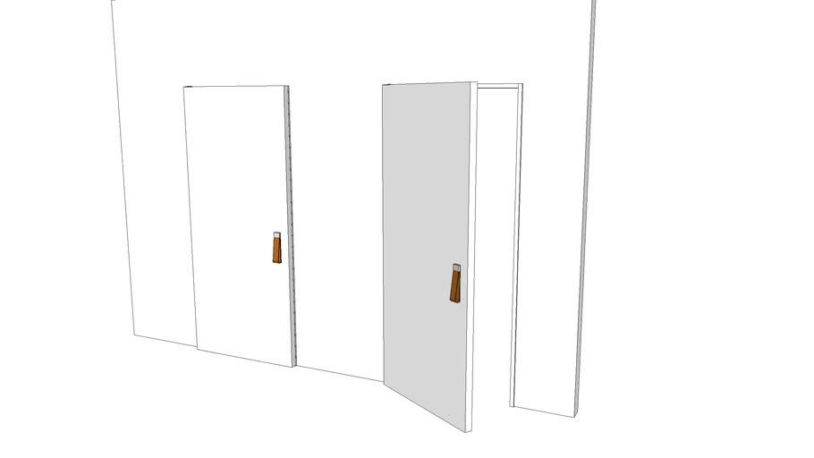 LEATHER HANDLE DOOR