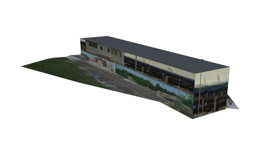 光華塔的鐵皮屋倉庫