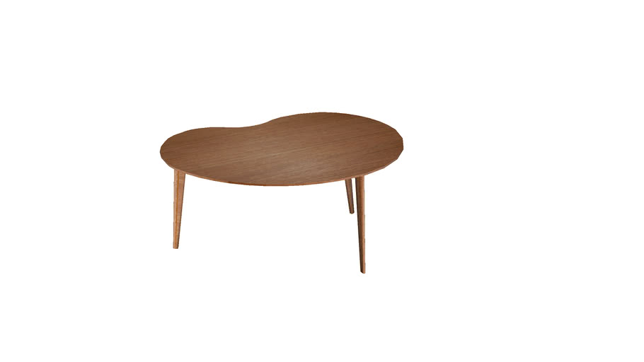 Table basse tripode haricot SENTOU / coffee table bean form