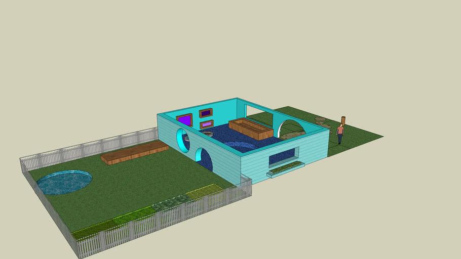 Upscale Dog villa w/ yard