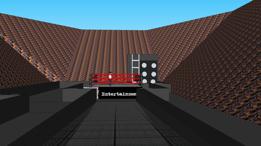 WWE Raw Stadium highly detailed