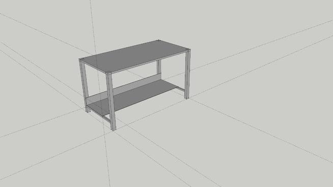 mesa de trabajo de acero soldado