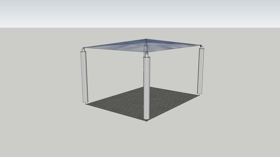 car port verre metal