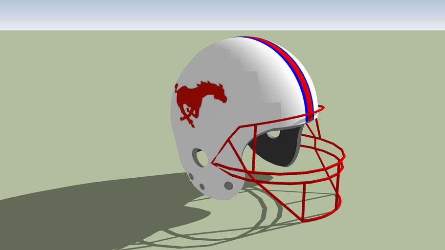 SMU Mustangs football helmet