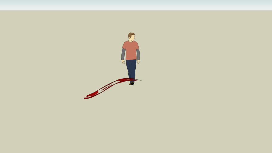 bleeding guy