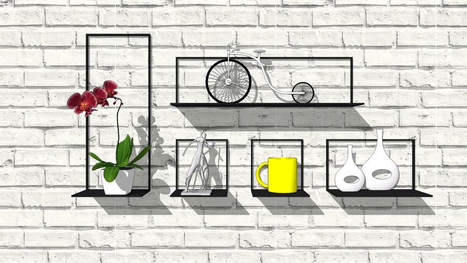 WALL RACK+DECOR+PLANTS+BRICK+MODERN+CUP+MODERN+WALL HANGING+BICYCLE