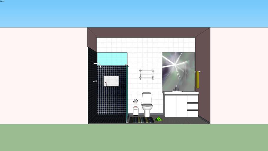 banheiro suite em mdf