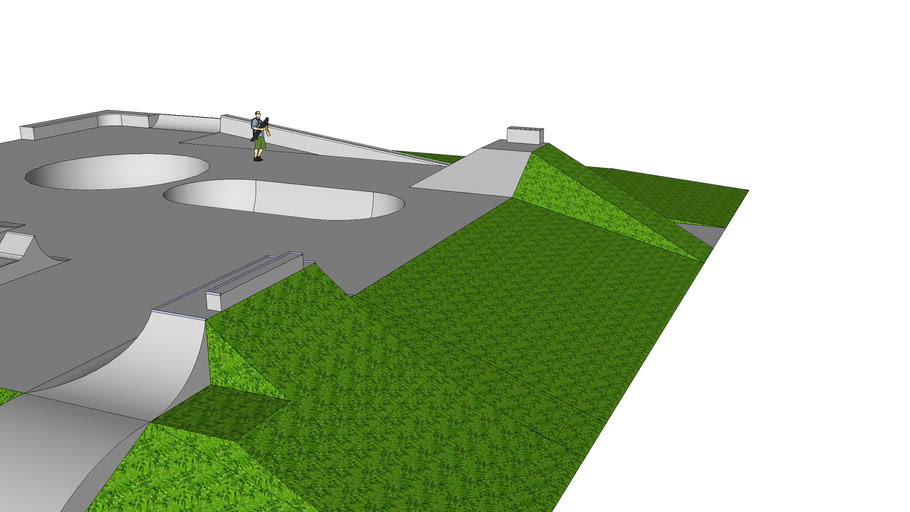 awesome outdoor skatepark