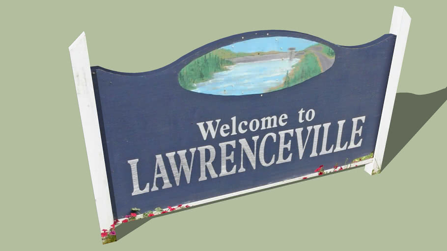 Welcome Sign Lawrenceville, Pennsylvania